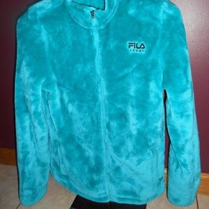Fila Jackets & Coats - Fila Girls XL (18) Teal Full Zip Fleece GC